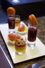 Mango & Strawberry Macaroon Ensemble (RachelGouk) Tags: china architecture modern dessert design shanghai interior macaroon fourseasons camelia pudong interiordesign finedining