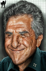 HAPPY B-DAY, DUSTIN! (The PIX-JOCKEY (visual fantasist)) Tags: birthday portrait cinema celebrity art face closeup photoshop movie joke contest fake humour hollywood vip photomontage chop caricature actor fotomontaggi dustinhoffman robertorizzato pixjockey