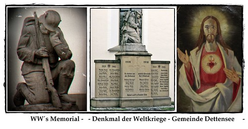 Triptychon -  Denkmal Dettensee -  WW'S memorial - WKI 1914-1918.  WKII 1939-1945. Effiart