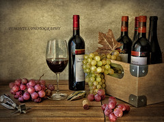 Tiempo de vino y uvas (pimontes) Tags: red glass bottle wine bottles grapes hss misionfez120901