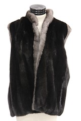 1046. Reversible Two Color Mink and Fox Fur Vest