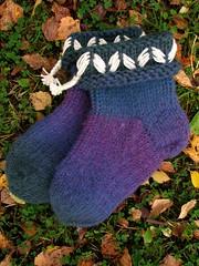 2012.09.19. tossukat hahtuvalankaa 008m (villanne123) Tags: socks 2012 lovikka sukat tossut tossukat 2012sukkasato lovikkasukat