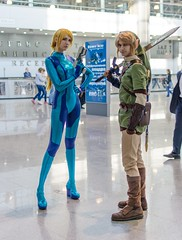 Samus and Link at Igromir 2012 (Sergey Galyonkin) Tags: show girls woman girl beautiful booth expo russia moscow games babe event babes 2012 igromir