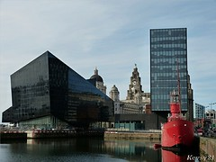 Mann Island View (kev thomas21) Tags: england building water liverpool boats boat waves waterfront mersey merseyside liverbuilding 3graces albertdocks mannisland