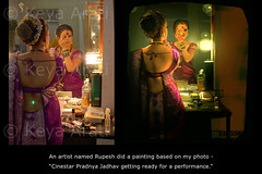My Lavani Photo - turned into - painting (keyaart) Tags: woman painting photo dancer mumbai lavani