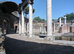 """Maritime Theater,"" Hadrian's Villa, view of remaining ambulatory barrel vault"
