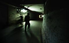 Under Beijing (Jonathan Kos-Read) Tags: china urban green bike bicycle dark underpass underground walking concrete asia shadows beijing tunnel motionblur  choice    depressing sigma20mmf18