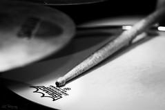End of shoot (KC*) Tags: bw white black macro nikon drum stick tamron remo snare d90