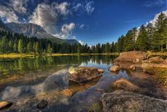 Lago San Pellegrino (fotopierino) Tags: canon lago san mark iii di 5d hdr 1740 trentino dolomiti pellegrino passo fiemme fotopierino 5dm3