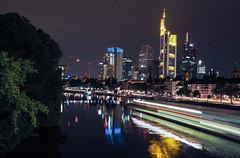 Frankfurt (padpadMcFly) Tags: olympus nikon city night lights frankfurt main germany party boat reflection lumix 20mm sky skyline river architecture wander summer