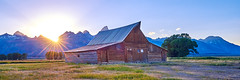 Morman Row (green2mm1) Tags: sunset mormonrow barn grandtetons landscape jacksonhole homestead historic wooden moulton barns range