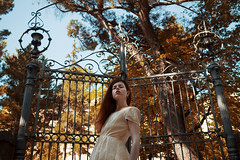 Below (Simo_za) Tags: portrait woman color girl gate colorful naturallight olympus poetic portraiture ritratto prospettiva portraitphotographylovers theportraits olympusomd