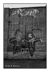 Hip Hop Marionettes (jbhthescots) Tags: 421mmsuperangulon glasgow ilfordfp4200 leicam3 plustek7600i sekonicl308s vuescan xtol1112min
