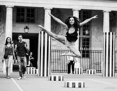 Jump ! (LACPIXEL) Tags: nati danse danseuse bailarina dancer art artista artiste arte saut jump salto touristes surprise sorpresa cour palaisroyal paris france nikon nikonfrance d4s fx flickr monochrome lapixel