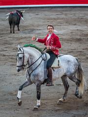 Pablo Hermoso de Mendoza (Juan Ig. Llana) Tags: pablohermosodemendoza caballo donatelli bilbao plazadetoros vistaalegre corrida rejones rejoneador jinete caballodemonta plaza arena ruedo coso zb