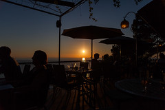 Sunset in Port de Sollr (tribalandre) Tags: sunset nautilus restaurant port de sollr mallorca spain sun blue sky water