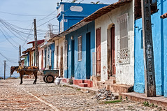 Putting the horse in front of the cart (...this time). (danielacon15) Tags: cuba trinidad 2016 streetphotography colorful houses cobblestone street travel urban countryside outdoors