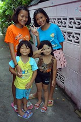 two sets of twins (the foreign photographer - ) Tags: dscaug72016sony two sets twin girls khlong bang bua portraits bangkhen bangkok thailand sony rx100