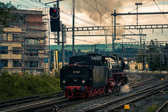 01 202 arriving in Lyss (iSteven-ch) Tags: lyss dampftag locomotive canon 01202 steamengines eos6d bern switzerland ch