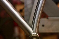 Curved seat tube