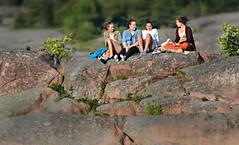 HANKO Find a nice rock (pentlandpirate) Tags: hanko hango finland suomi summerholidays girls rock baltic sea