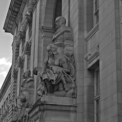 Imperial Collage Facade (nigelphillips) Tags: building stonework facade london icl imperial college architecture bw