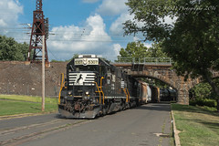 CSAO YMPO-R1 @ Morrisville, PA (Darryl Rule's Photography) Tags: august csao dq dairyqueen diesel diesels emd freight freighttrain local mixedfreight morrisville ns norfolksouthern ols operationlifesaver pa pennsylvania staley streetrunning summer sun train trains ympor1