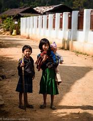 Three children (JohannesLundberg) Tags: girl burma three expedition child village boy myanmar kayah myanmarburma mm