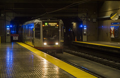 M Line at Church Station (Hawkeye2011) Tags: sanfrancisco usa 2016 california transport railway station train