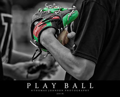 Play Ball (Thomas  Johnson Photography) Tags: vienna missouri unitedstates outside outdoors canon digital 40d selectivecoloring glove ball baseball sports thomasjohnsonphotography thomasjohnsonphotography 2016 evening ballfield diamond baseballdiamond