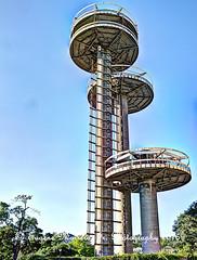 New York City (Themarrero) Tags: newyork newyorkcity nyc flushingmeadowpark queens 1964worldsfair newyorkpavilion observationtowers 1964worldsfairobservationtowers robertmoses olympuse5 olympuszuikodigitaled1442mmf3556lens