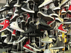 A whole lot of.... Converse (MKP-0508) Tags: nyc newyork usa unitedstates accumulations angehuft converse schuhe shoes chaussures chucks broadway
