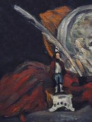 CEZANNE,1872 - Mdaillon de Philippe Solari et les Accessoires de Czanne (Orsay) - Detail -h (L'art au prsent) Tags: art painter details dtail dtails detalles painting paintings peinture peintures 19th 19e peinture19e 19thcenturypaintings 19thcentury detailsofpainting detailsofpaintings tableaux paulczanne paulcezanne cezanne czanne stilllife naturemorte orsay figure philippesolari solari hommage tribute sculture sculpteur sculptor homme gris rouge blanc white red grey plume encrier inkwell pen feather statuette man paper rouleau scroll papier redcloth chiffon cloth fruit food orange oranges
