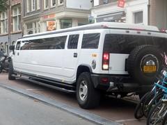 Slightly Oversized (Quetzalcoatl002) Tags: car oversized big length vehicle outdoor white amsterdam limousine