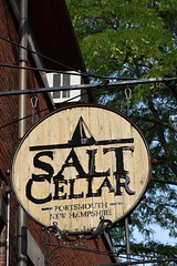"""Salt Cellar Shingle"" (hansntareen) Tags: portsmouth newhampshire outdoor newengland shingle sign saltcellar"