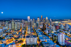 Seattle from the Space Needle (todd landry photography) Tags: seattle green architecture photography washington nikon downtown cityscape space needle todd hdr landry d700