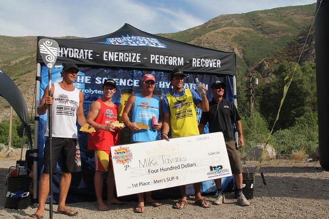 Mike Tavares took 1st in men's SUP-Cross