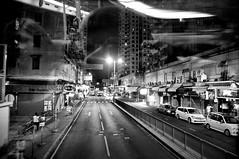 Tuen Mun (www.isphoto.lv) Tags: street city blackandwhite white black bus night scenery view pentax hong kong tuen mun