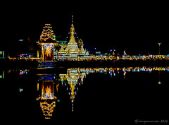 Reflection (iamguava - ) Tags: lake reflection night thailand temple lights king thai guava maehongsorn  earthasia iamguava totallythailand