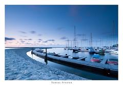 jetty (Tobias Pfeifer) Tags: longexposure blue sunset boats boat nikon harbour wideangle balticsea manfrotto190xprob tokinaatx116prodx nikond300s siruik30x