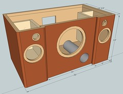 Boombox design (burritobrian) Tags: diy speaker boombox overnightsensations speakerbuild sd215a88