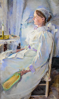 Cecilia Beaux - New England Woman, 1895 at Pennsylvania Academy of the Fine Arts - Philadelphia PA
