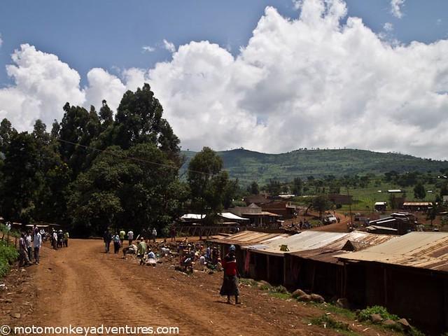 Ugandan Village, Mt Elgon