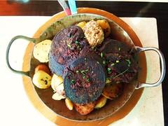 #Blutwurst ... #Bratkartoffel ... Dijon Senf ... (RenateEurope) Tags: camera food germany restaurant nikon bonn dijon fries coolpix mustard snacks senf blutwurst bloodsausage bratkartoffel s8000 bahnhfchen