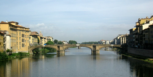 Arno river and bridge,Florence, Italy