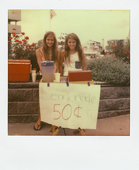 Lemonade Stand (gregbrophy) Tags: new summer beach square lemonade jersey v4b gregbrophy px70 impossibleproject