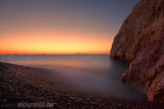 Santorini just before Sunrise