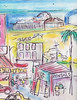 "VENICE BEACH AND SANTA MONICA PIER (roberthuffstutter) Tags: style expressionism impressionism beachcities huffstutter 1960scalifornia watercolorsbyhuffstutter ""flickraward"" originalsavailable artmarketusa southbaywatercolors southbayscenes signedcopiesavailable watercolorsofsouthbay strandwatercolors huffstutterssouthbayart"