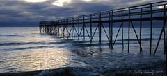 Matlock Pier (Sheldon Emberly) Tags: longexposure sunrise pier dock availablelight matlock pictureperfect lakewinnipeg theenchantedcarousel nikond3000