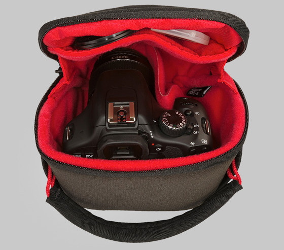 How your DSLR camera looks inside the bag
